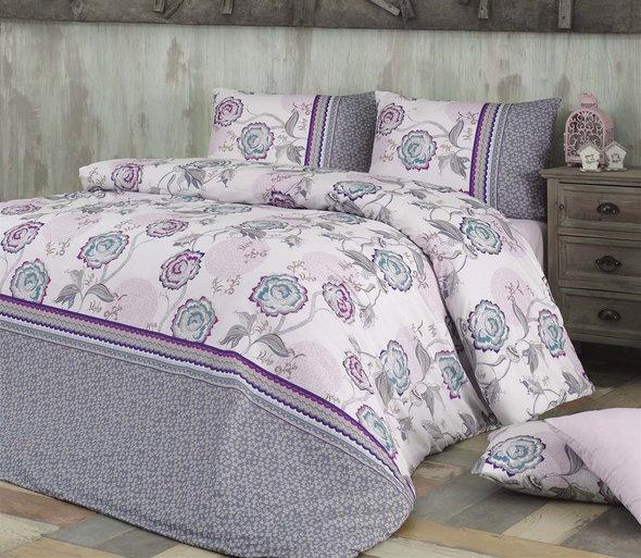 Комплект постельного белья Issimo Home RANFORCE FARIN хлопковый ранфорс евро, фото, фотография
