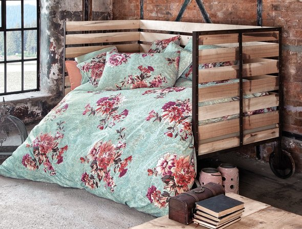 Комплект постельного белья Issimo Home RANFORCE FLORET хлопковый ранфорс евро, фото, фотография