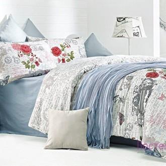 Комплект постельного белья Issimo Home RANFORCE LA ROSA хлопковый ранфорс
