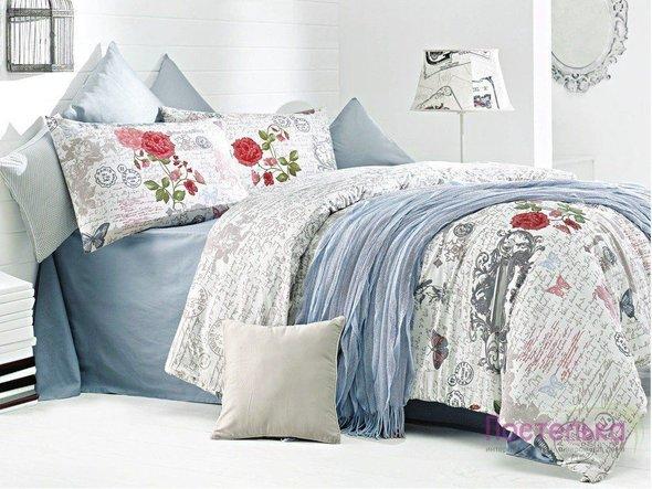 Комплект постельного белья Issimo Home RANFORCE LA ROSA хлопковый ранфорс евро, фото, фотография