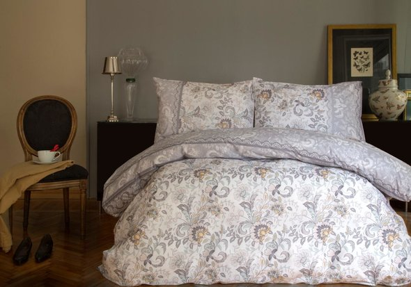 Комплект постельного белья Issimo Home RANFORCE LINDA хлопковый ранфорс евро, фото, фотография