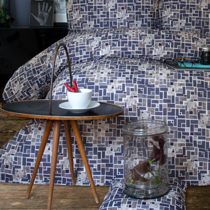 Постельное белье Issimo Home RANFORCE NAT-LAPIS хлопковый ранфорс 1,5 спальный