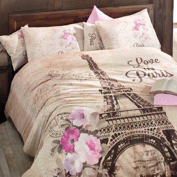 Комплект постельного белья Issimo Home RANFORCE PARIS хлопковый ранфорс 1,5 спальный, фото, фотография