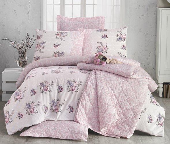 Комплект постельного белья Issimo Home RANFORCE ROSELLE хлопковый ранфорс евро, фото, фотография