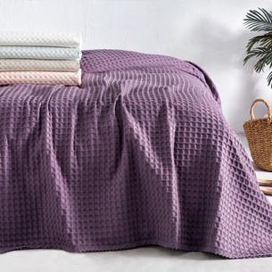 Покрывало пике Tivolyo Home MODESTO хлопок фиолетовый 160х220