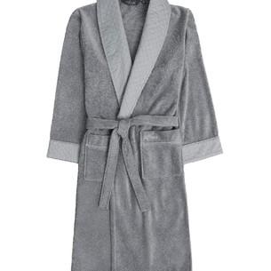 Халат мужской Soft Cotton CLASS хлопковая махра серый M