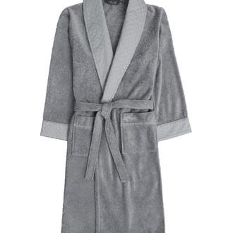 Халат мужской Soft Cotton CLASS хлопковая махра (серый)