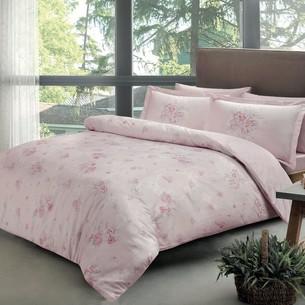 Постельное белье TAC PREMIUM DIGITAL MADELINE хлопковый сатин делюкс розовый евро