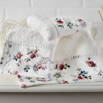 Набор полотенец-салфеток в подарочной упаковке 30*50(3) Tivolyo Home ROSELAND хлопковая махра (кремовый)