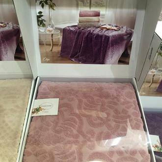 Махровая простынь-покрывало для укрывания Tivolyo Home ELIPS ПВХ хлопок грязно-розовый