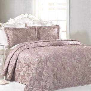 Покрывало Tivolyo Home GRANT жаккард грязно-розовый 260х260