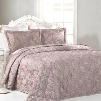 Покрывало Tivolyo Home GRANT жаккард грязно-розовый