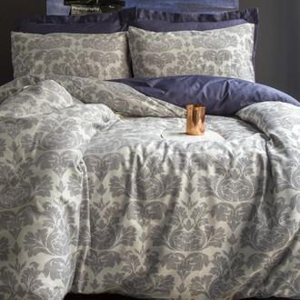 Комплект постельного белья Issimo Home HAMPTON хлопковый пестротканный сатин делюкс