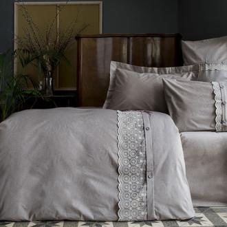 Комплект постельного белья Issimo Home SALOME органический хлопковый сатин (серый)