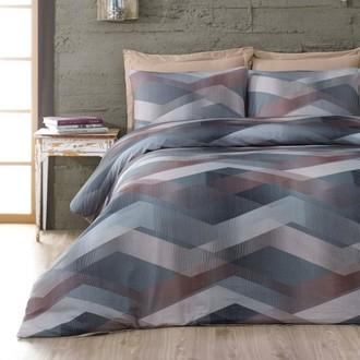 Комплект постельного белья Issimo Home SATIN HELIX хлопковый сатин делюкс коричневый