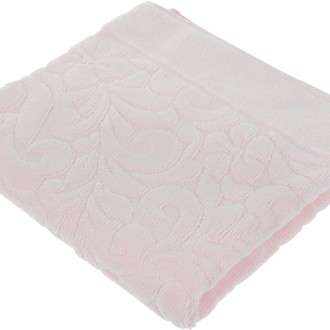 Коврик-полотенце Issimo Home VALENCIA бамбуково-хлопковая махра светло-розовый