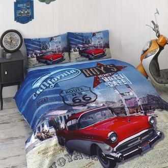 Комплект подросткового постельного белья Issimo Home RANFORCE CALIFORNIA хлопковый ранфорс