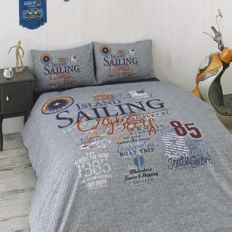 Комплект подросткового постельного белья Issimo Home RANFORCE SAILING хлопковый ранфорс