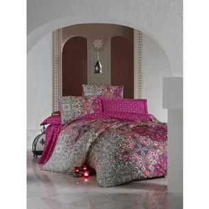 Постельное белье Cotton Box SATEN TUGBA хлопковый сатин фуксия евро