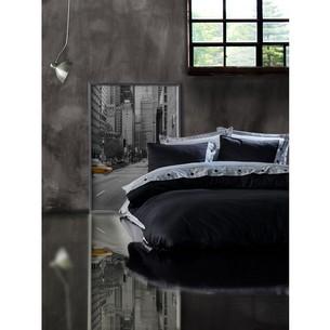 Постельное белье Cotton Box FASHION LINE хлопковый сатин делюкс серый+чёрный евро