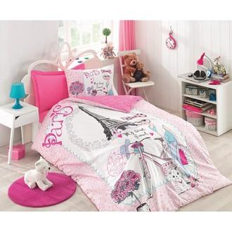 Постельное белье детское Cotton Box JUNIOR BEST FRIEND хлопковый ранфорс розовый