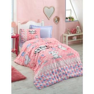 Постельное белье детское Cotton Box JUNIOR ANIMALS хлопковый ранфорс розовый
