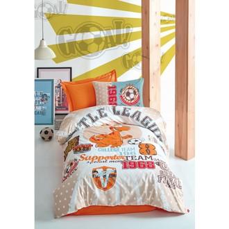 Постельное белье детское Cotton Box JUNIOR LITTLE TEAM хлопковый ранфорс оранжевый