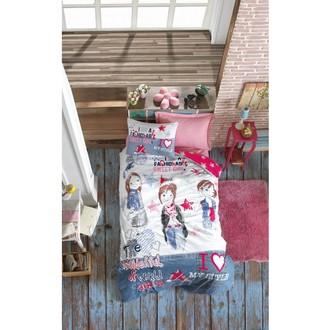 Постельное белье детское Cotton Box JUNIOR FASHION GIRLS хлопковый ранфорс