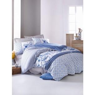 Постельное белье Cotton Box MODE LINE MILO хлопковый ранфорс синий евро