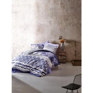 Постельное белье Cotton Box MODE LINE LUCCA хлопковый ранфорс голубой евро