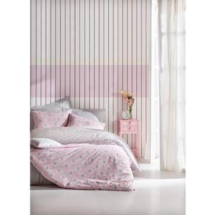Постельное белье Cotton Box MINIMAL FINE хлопковый ранфорс розовый евро