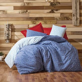 Постельное белье Cotton Box MINIMAL PAVE хлопковый ранфорс бордовый