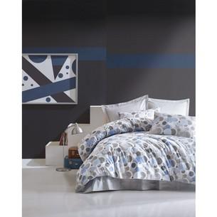 Постельное белье Cotton Box MINIMAL POLY хлопковый ранфорс голубой евро