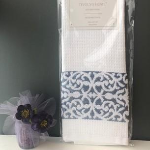 Кухонное полотенце Tivolyo Home ARES хлопковая вафля голубой 45х70