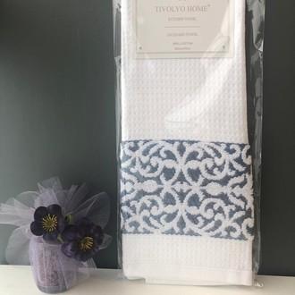 Кухонное полотенце Tivolyo Home ARES хлопковая вафля (голубой)