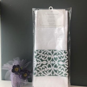 Кухонное полотенце Tivolyo Home ARES хлопковая вафля (зелёный)