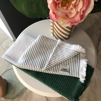 Набор кухонных полотенец 2 шт. Tivolyo Home RETRO хлопковая махра (зелёный)