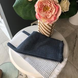 Набор кухонных полотенец 2 шт. Tivolyo Home RETRO хлопковая махра синий