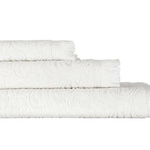 Полотенце для ванной Karna ESRA хлопковая махра кремовый 90х150