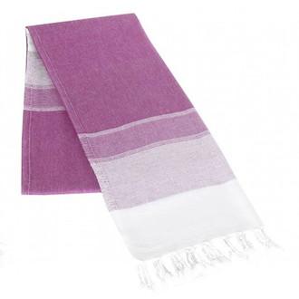 Полотенце-палантин пештемаль Buldan's LIDYA хлопок фиолетовый
