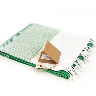 Полотенце-палантин пештемаль Buldan's LIDYA хлопок зелёный