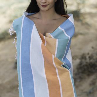 Полотенце пештемаль для пляжа, сауны, бани Begonville CLASSIC HALEY хлопок vibes