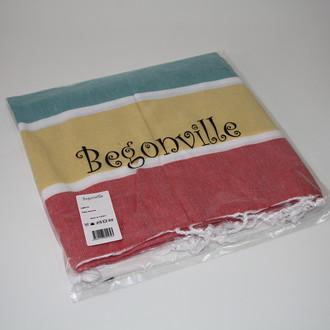 Полотенце пештемаль для пляжа, сауны, бани Begonville CLASSIC HALEY хлопок (smoothie)