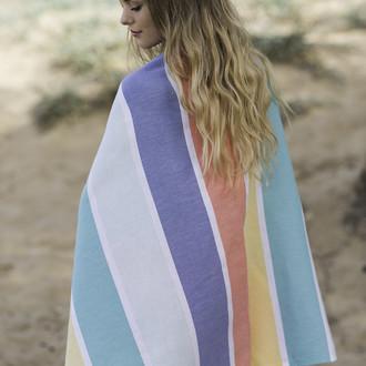 Полотенце пештемаль для пляжа, сауны, бани Begonville CLASSIC HALEY хлопок (festive)