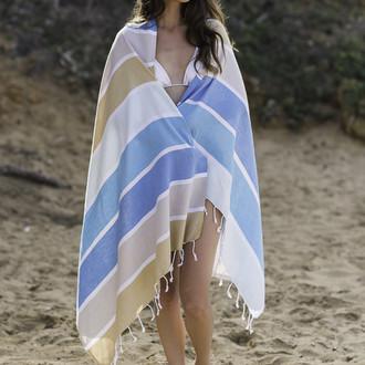 Полотенце пештемаль для пляжа, сауны, бани Begonville CLASSIC HALEY хлопок (beach)
