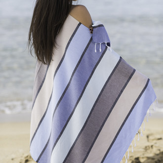 Полотенце пештемаль для пляжа, сауны, бани Begonville CLASSIC CORSICA хлопок land's end