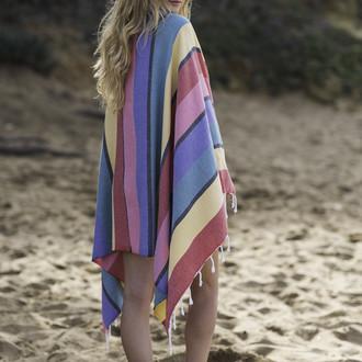Полотенце пештемаль для пляжа, сауны, бани Begonville CLASSIC CORSICA хлопок (smootie)