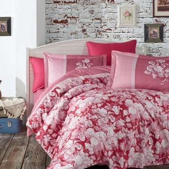 Постельное белье Hobby Home Collection AMALIA хлопковый сатин бордовый
