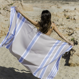 Полотенце пештемаль для пляжа, сауны, бани Begonville CLASSIC SAMSARA хлопок (shore)