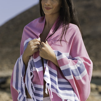 Полотенце пештемаль для пляжа, сауны, бани Begonville CLASSIC SAMSARA хлопок (denim girls)